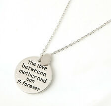 The Best Family Gift Lover Between a Mother and Son is forever Charms Necklace