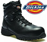 MENS DICKIES S3 WATERPROOF SAFETY WORK LEATHER BOOTS HIKER COMPOSITE TOE CAP SZ
