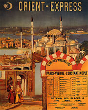 ORIENT EXPRESS TRAIN TRAVEL ISTANBUL TURKEY 8X10 VINTAGE POSTER REPRO FREE S/H