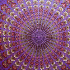 Mandala Indian Wall Hanging Cotton Tapestry Queen Purple Decor Throw TP1411B