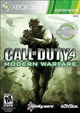 Xbox 360 Platinum Hits Call Of Duty 4 Modern Warfare 4 includes MW3