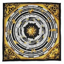 Jacqueline Kennedy Black Zodiac Handmade Silk 35in Fashion Scarf Camrose & Kross