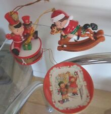 Campbell's Soup Kids ornaments 3 rocking horse plate drummer boy 2003 & 2005