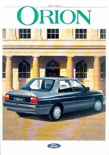 Ford ORION prospectus 8/90 brochure 1990 auto voiture Allemagne brochure Europe