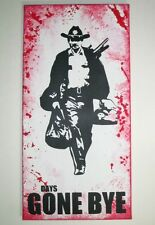 "Rick Grimes The Walking Dead Inspired Painting - 12"" x 24"" Spray Graffiti Style"