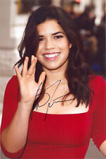 America Ferrera, American actress, Ugly Betty, signed 12x8 photo. COA. Proof.