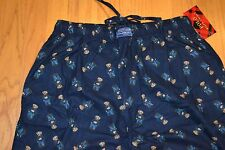 Men's Polo Ralph Lauren Sleepwear Bear Print Flannel Pajamas Pants Size: X-Large
