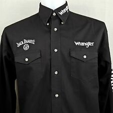 Wrangler Jack Daniels No. 7 Embroidered Twill Men's XL Oxford Long Sleeve Shirt