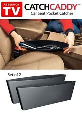 2pcs Catch Caddy Car Seat Catcher, Car Organizer-Black Color
