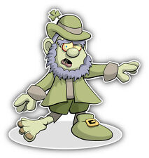 "Leprechaun Zombie Car Bumper Sticker Decal 5"" x 5"""