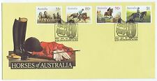 1986  Horses of Australia FIRST DAY OF ISSUE 21 MAY 1986 MELBOURNE VIC 3000