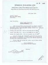 JACK ANSELL   Signed Entertainment Contract    New Opera House Blackpool  1976