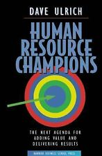 Human Resource Champions, David Ulrich, Very Good Book