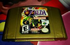 Zelda Majora's Mask Not For Resale N64 Nintendo 64 With Peeled Back Sticker