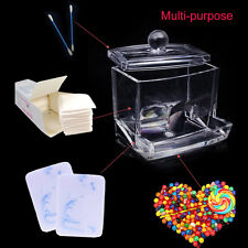 Acrylic Q-Tip Cotton Swab/Bud Holder Dispenser Organizer Storage Container Box