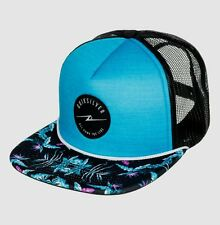 New QUIKSILVER Mens SLAPPY Flat Bill Trucker Hat, Snapback Cap, NWT
