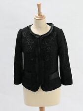 Monsoon Womens Black Glitter Embellished Jacket Size 8