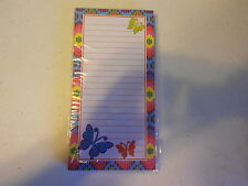 80 sheet Magnetic Note Pad (new) BUTTERFLIES & DESIGN #31