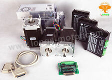 【German Ship 】3Axis Nema 34 Stepper Motor 1600oz & Driver CNC Router kit LONGS