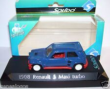 SOLIDO RENAULT 5 MAXI TURBO BLEU CLAIR REF 1908 1/43 IN BOX + planche décalques