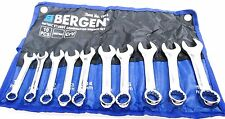 BERGEN 10pc Metric Stubby Combination Spanner Wrench Set 10mm - 19mm 1913