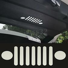 9pcs Silver Aluminum Inner tail Door Marked trim for Jeep Renegade 2015-2016
