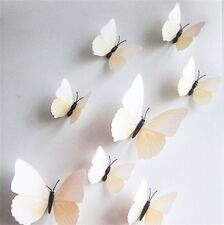 10Color 12PC DYI 3D Butterfly Wall Sticker Home Decor Room Decorations Art Gifts