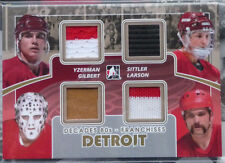 2010-11 ITG Decades Franchises Quad Memo GOLD Yzerman-Sittler-Gilbert-Larson /10