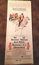 ROMANCE OF A HORSE THIEF Yul Brynner Jane Birkin 1971  Insert Movie Poster