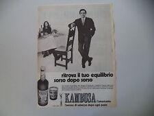 advertising Pubblicità 1971 AMARO KAMBUSA L'AMARICANTE