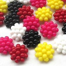 New 20pcs Plastic Buttons Bubble 25mm Sewing Craft