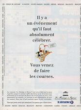 """Publicité 1995  E. LECLERC  """"le manège à bijoux""""  pendentif collier bague ..."""