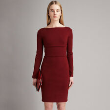 New Stella McCartney Merlot Red Stretch Cotton Dress - UK 6 IT 38
