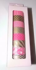 NEW lot of 8 UMI by Elum Hot Pink Gold Washi Paper Tape coordinating Planners