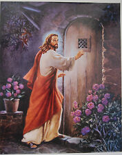 JESUS CHRIST Lord Knocking ON DOOR 16x20 art print WELCOME HIM GOD BLESS THE USA
