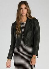 2015 NWT WOMENS BILLABONG NIGHT MOVES JACKET $100 M off black quilting zippers