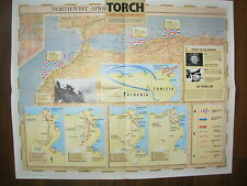 IMAGES OF WAR WWII CAMPAIGN MAP TUNISIA TORCH 8 NOVEMBER 1942 TO 14 MAY 1943