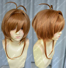 Cosplay Magic card girl cherry/Sakura Kinomoto Golden brown Heat Wig