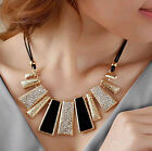 Women Fashion Pendant Chain Crystal Choker Chunky bib Statement Necklace Jewelry