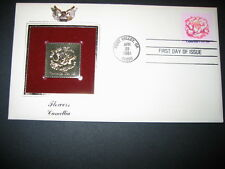 1981 FLOWERS CAMELLIA 22kt Gold GOLDEN FDC Cover replica STAMP
