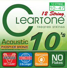Cleartone 7410-12 Ph Bronze Acoustic Guitar Strings 10-47; 12-string set 10-47