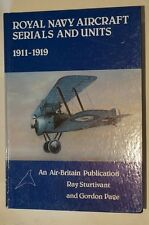 WW1 British RNAS Aircraft Serial Numbers and Units Reference Book