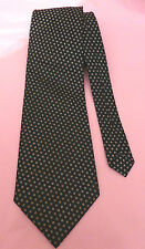 René Chagal black handmade silk tie with small white patterning