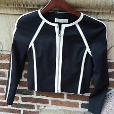 Michael Kors Jacket Black with White Trim - New without tags (Size 2)