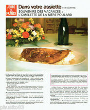 PUBLICITE ADVERTISING 036  1978  Hotel Saint Michel omelette Mère Poulard