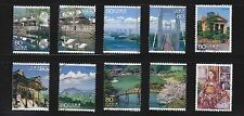 JAPAN 2010 (PREFECTURE) TRAVEL SCENERY SERIES NO. 8 SETO INLAND SET 10 STAMPS FU