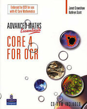 A Level Maths Essentials Core 4 for OCR Book and CD-ROM by Kathryn Scott,...