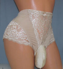 Jennifer's  Tan Light Support SISSY POUCH PANTIES Crossdress for Men Sz 28-46 5X