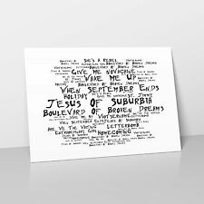 Green Day - Art Studio A2 Lyrics Poster - American Idiot - Noir Paranoiac