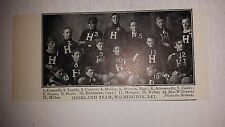 Highland Team Wilmington Delaware 1902 Football Team Picture VERY RARE